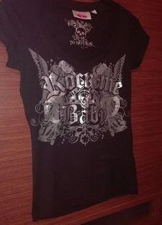Kup mój przedmiot na #vintedpl http://www.vinted.pl/damska-odziez/bluzki-z-krotkimi-rekawami/15584882-czarna-bluzka-z-dekoltem-rock-me-baby-xs-s