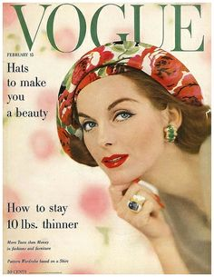 Anne St.Marie Vogue Cover Us Feb 1957