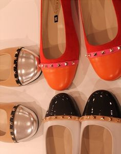 Russell & Bromley two-tone flats