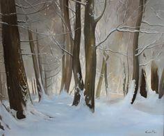 Winter Woods by Richard P Gill | Artfinder