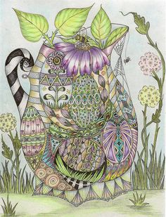 Art Journal, Easter Tangle by Carolyn Boettner on Flickr