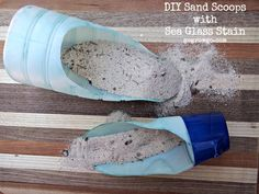 DIY Sand Scoops with Sea Glass Stain #iDelight on www.gogrowgo.com @gogrowgo