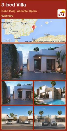 Villa for Sale in Cabo Roig, Alicante, Spain with 3 bedrooms, 2 bathrooms - A Spanish Life Private Garden, Private Pool, Valencia, Portugal, Stone Masonry, Residential Complex, Alicante Spain, Seaside Towns, Summer Dream