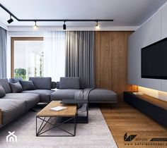 """Apartment Remodeled to fit the Needs of a Family of Three in the City of Gdynia, Poland"""" Home Room Design, Home Interior Design, Sofa Design, Furniture Design, Living Room Styles, Flat Interior, Luxury Sofa, Sims House, House Rooms"""