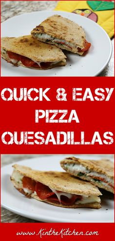 Wanting something a little different for pizza night? Give these quick and easy Pizza Quesadillas a try.