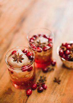 15 Delicious Christmas Cocktails: Cranberry Bourbon Fizz