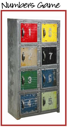 Numbers Cabinet by Furniture Classics Ltd.