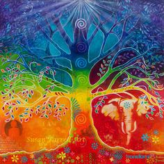 """""""Chakra Tree Of Transformation""""by Susan Farrell. Art Prints available."""