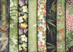 8 Bamboo Green ASIAN JAPANESE ORIENTAL FAT QUARTER QUILT FABRIC: 2 Yds  | eBay