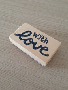 With love wooden rubber stamp by LadyendeVagehond on Etsy, $3.80  https://www.etsy.com/listing/193310887/with-love-wooden-rubber-stamp?ref=sr_gallery_17&ga_order=date_desc&ga_view_type=gallery&ga_ref=fp_recent_more&ga_page=5&ga_search_type=all
