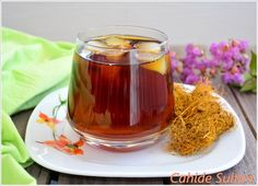 meyan kökü şerbeti, Desserts with Sherbet Homemade Syrup, Delicious Fruit, Yummy Yummy, Aromatic Herbs, Vegetable Drinks, Homemade Beauty Products, Medicinal Plants, Iftar, No Cook Meals