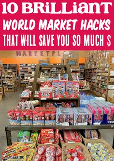 How to Save Money on Groceries and Food at World Market! You won't believe how much you'll save with these tips! Have you tried any of these tricks yet?? Save Money On Groceries, Ways To Save Money, Money Saving Tips, Teen Money, Big Money, Money Today, Frugal Tips, World Market