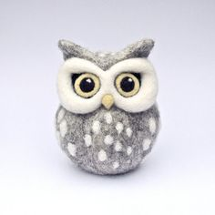 RESERVED FOR KATHY - reserved for Kathy - needle felted white owl sculpture…