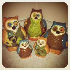 Perfect This Is A Picture Of My New Owl Canister Set. I Ordered Them (and