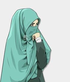 I love hijab I love islam 💖💖💖 Cartoon Pics, Girl Cartoon, Geisha, Cover Wattpad, Muslim Pictures, Hijab Drawing, Hijab Niqab, Muslim Hijab, Islam Muslim