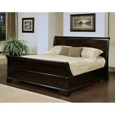 @Overstock - Add a traditional look to your bedroom with this wood king-sized sleigh bed. The wood features a deep espresso coloration that blends seamlessly with a traditional home decor style, and the sturdy solid oak construction is sure to last for years.http://www.overstock.com/Home-Garden/Abbyson-Living-Kingston-Espresso-Sleigh-King-size-Bed/6091958/product.html?CID=214117 $1,169.99