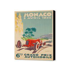 "Monaco 2 Avril 1934 (16""W x 20""H x 1.5""D)"