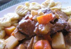 Pomalé ragú z diviaka s gnocchi (fotorecept) - myTaste. Gnocchi, Pork, Beef, Ethnic Recipes, Kale Stir Fry, Meat, Pork Chops, Steak