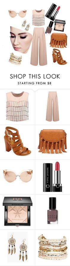 """""""Untitled #42"""" by mikicaajla ❤ liked on Polyvore featuring Alexis, Antipodium, Bamboo, Sole Society, Linda Farrow, Marc Jacobs, Givenchy, Bobbi Brown Cosmetics, Boohoo and Panacea"""
