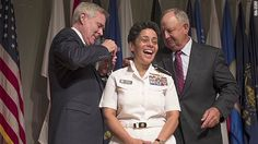 Michelle Howard becomes Navy's first female four-star admiral and the first African American to hod the job as well