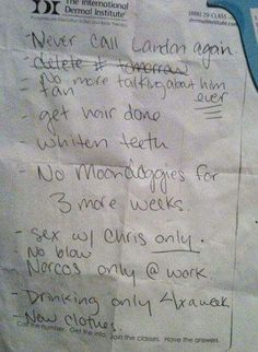 To-do list a lady dropped at a Starbucks  Tumblr | Facebook |...