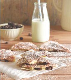 Giannis Banana and Chocolate Tortilla Treats