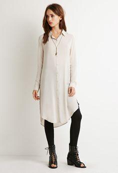 Longline High-Slit Shirt