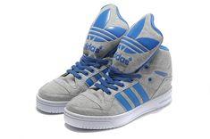 adidas jeremy scott | Adidas x Jeremy Scott Metro Attitude Hi Gris Bleu Pas Cher Adidas x ...
