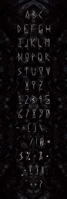 Love this style. It looks like the letters carved on ancient runes, gives it a magical feel with a hint of Dark Gothic action. How can I say no~