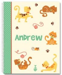 Cat Park Personalized Notebook