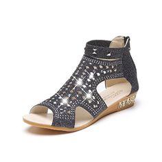 9468a630c4e0 Sandales Plates Femme,Xinan Bohemian Sandales Compensees Femme Chaussures  Plates Printemps Été Dames Femmes Wedge