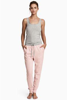 Pantalón de pijama de punto - Rosa jaspeado - MUJER | H&M ES 1