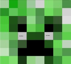 Minecraft Papercraft Life Size Creeper Head