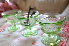 Green Depression glass....my favorite!