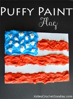 puffy paint flag craft