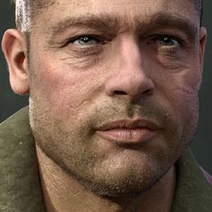 I am a huge fan of Fury movie. Had fun learning and working on this project.    Started this personal project long time back in my free time as likeness study. Later introduced cloths from Marvelous Designer and tank blocked out in Maya.   All the details from skin pores, fibermesh curves, cloth stitches, leather, metal welding, dents and more was done in zbrush. Zbrush, photoshop and Substance Painter was used to generate all the maps. Hair done using zbrush fibermesh curves and maya…