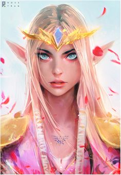 """rossdraws: """"My painting of Princess Zelda from the episode! Her classic design is probably my favorite and pretty happy of how this portrait came together. Hope you enjoy it! """""""
