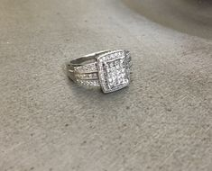 We even did a set of fitted bands to go with the ring. Class Ring, Bands, Silver Rings, White Gold, Wedding Rings, Engagement Rings, Jewels, Enagement Rings, Jewerly