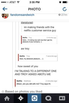 So I pinned this once then I thought. This is a netflix conversation inside a tumblr post inside an instagram post on pinterest.