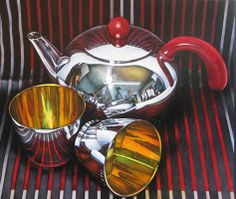 Teapot by Jeanette Pasin Sloan / 31x36 / Oil on Board