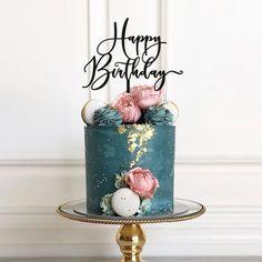 Happy Birthday Torte, 40th Birthday Cake For Women, 40th Birthday Cake Topper, 40th Cake, Happy Birthday Signs, Beautiful Birthday Cakes, Birthday Cake Decorating, 6 Cake, 90 Birthday