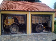 These are giant DECALS for your garage doors....FUNNY!!