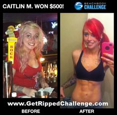 How Caitlin lost 37 pounds and won $500... http://getpaidwithfitness.net/caitlins-turbo-fire-results/