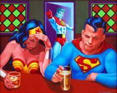Craig Edmunds' Captain Planet Is a Doucher  NOTE: Wonder Woman drinks whisky!