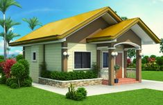 Small House Designs - SHD-2012001   Pinoy ePlans Tiny House Loft, Modern Bungalow House, Best Tiny House, Best Small House Designs, Simple House Design, Small House Floor Plans, Home Design Floor Plans, Build Your House, Building A House