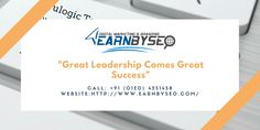 Earnbyseo top reviews India and our team is a key to success of any organization, with great leadership comes great success. We have young and aspiring management team who carry core experience in Digital marketing.