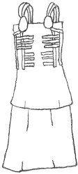 Proposal for a short apron-dress based on Birka 735