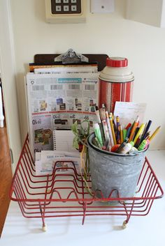 A good idea for mail etc., and I just happen to have one lying around, as well as a mail sorting problem.  :)