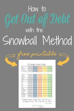 Are you drowning in credit card debt or struggling to payoff medical bills? Check out these tips on how to get out of debt using the Debt Snowball method by Dave Ramsey. Find quick success by concentrating on your lowest debts first and work your way through each debt until you're debt free!