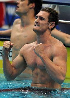 Cameron van der Burgh - who won the gold medal of 100m breaststroke men game.